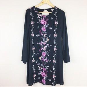 Xhilaration | Floral Long Sleeve Shift Dress
